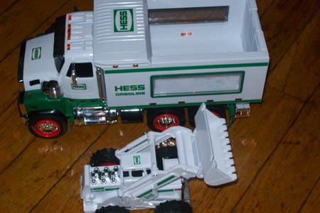 2008 Limited Edition HESS Truck w. snow tractor (from Grandpa)